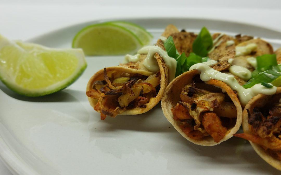 Crispy Cabbage & Chicken Taquitos