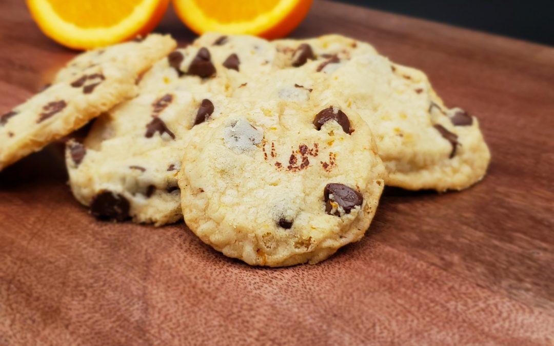 Dark Chocolate & Orange Shortbread Cookies