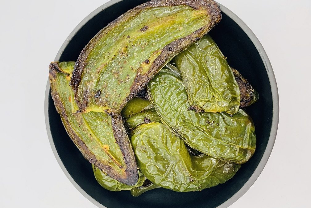 Simple oven roasted jalapenos